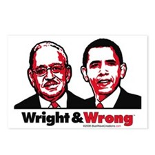 Wright & Wrong anti Obama Postcards (Package o