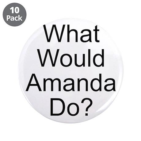 "Amanda 3.5"" Button (10 pack)"