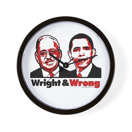 Wright & Wrong anti Obama Wall Clock
