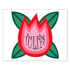RED PINK TULIPS Posters