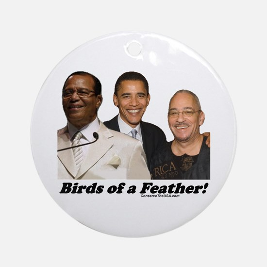 """""""Birds of a Feather"""" Ornament (Round)"""