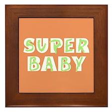 Super Baby Framed Tile