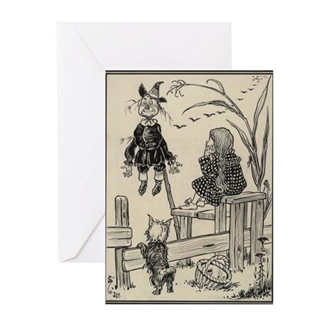 Dorthy & Scarecrow Greeting Cards (Pk of 20)