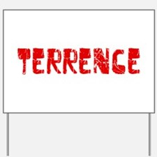 Terrence Faded (Red) Yard Sign