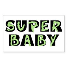 Super Baby Rectangle Decal