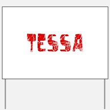 Tessa Faded (Red) Yard Sign