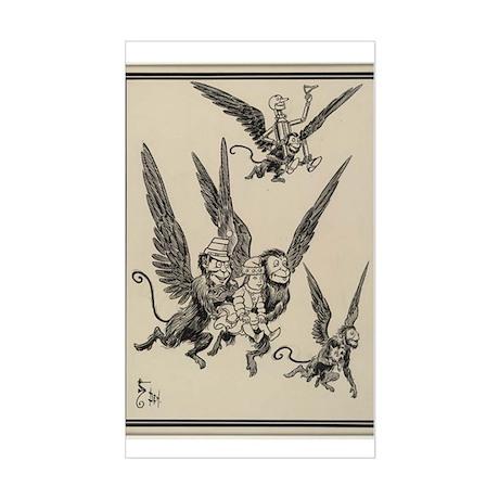 Flying Monkeys Rectangle Sticker