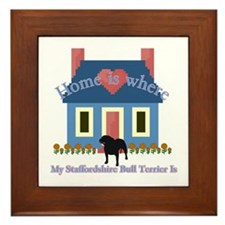 Staffordshire Bull Terrier Framed Tile