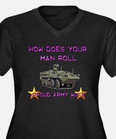 How does your man roll? Women's Plus Size V-Neck D