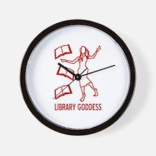 Library Goddess Wall Clock