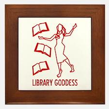 Library Goddess Framed Tile