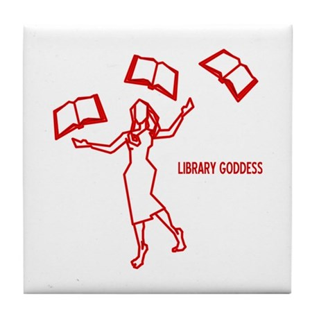 Library Goddess Tile Coaster