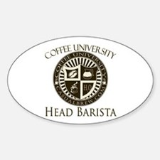Head Barista Oval Decal