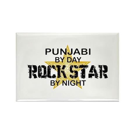 Punjabi Rock Star by Night Rectangle Magnet