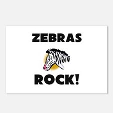 Zebras Rock! Postcards (Package of 8)