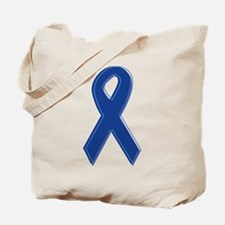 Dk Blue Awareness Ribbon Tote Bag