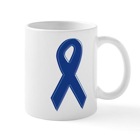 Dk Blue Awareness Ribbon Mug