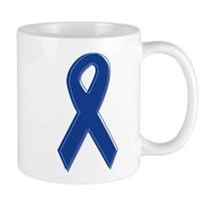 Dk Blue Awareness Ribbon Mug