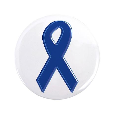 """Dk Blue Awareness Ribbon 3.5"""" Button (100 pack)"""