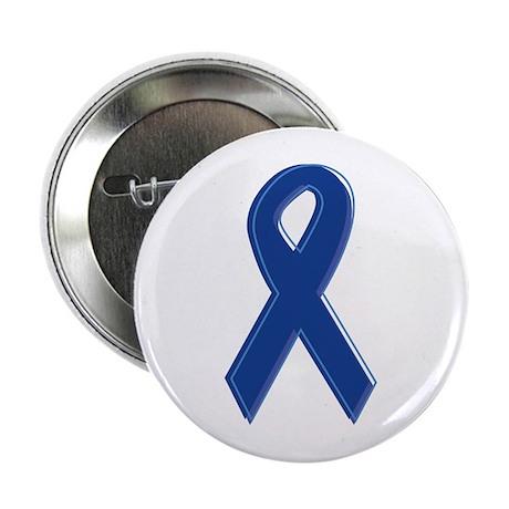 """Dk Blue Awareness Ribbon 2.25"""" Button"""