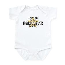 Jewish Rock Star by Night Infant Bodysuit