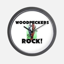 Woodpeckers Rock! Wall Clock