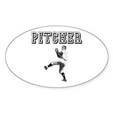 Pitcher Oval Decal
