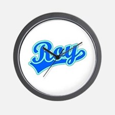 Retro Roy (Blue) Wall Clock