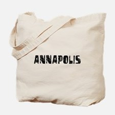 Annapolis Faded (Black) Tote Bag
