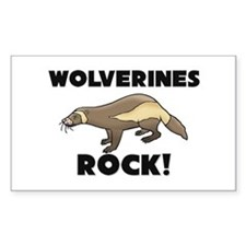 Wolverines Rock! Rectangle Decal