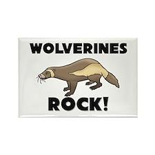 Wolverines Rock! Rectangle Magnet