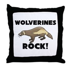 Wolverines Rock! Throw Pillow