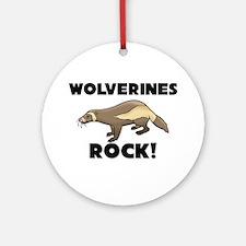 Wolverines Rock! Ornament (Round)