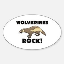 Wolverines Rock! Oval Decal