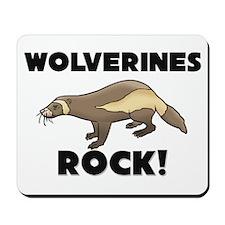Wolverines Rock! Mousepad