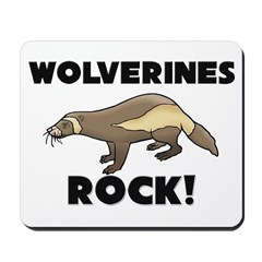 Wolverines Rock! Mousepad