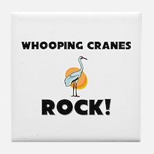 Whooping Cranes Rock! Tile Coaster