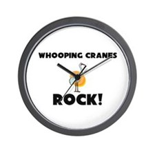 Whooping Cranes Rock! Wall Clock