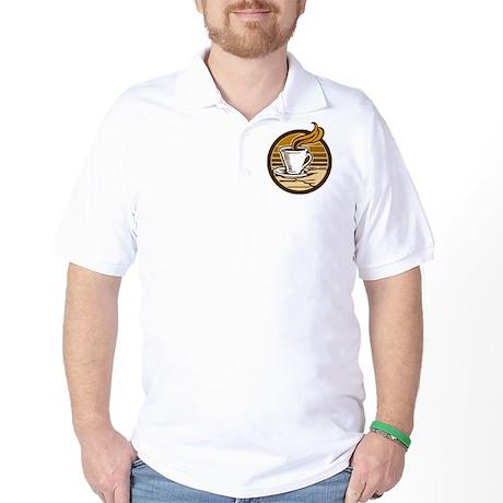 Steaming Coffee Golf Shirt