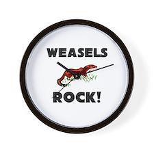 Weasels Rock! Wall Clock