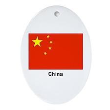 China Chinese Flag Keepsake (Oval)