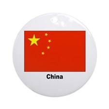China Chinese Flag Keepsake (Round)