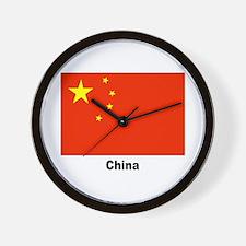 China Chinese Flag Wall Clock