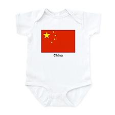 China Chinese Flag Infant Creeper