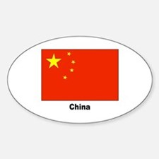 China Chinese Flag Oval Decal