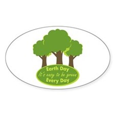 Easy To Be Green Oval Decal