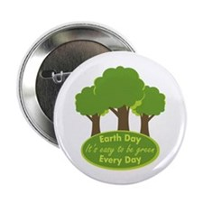 "Easy To Be Green 2.25"" Button (10 pack)"