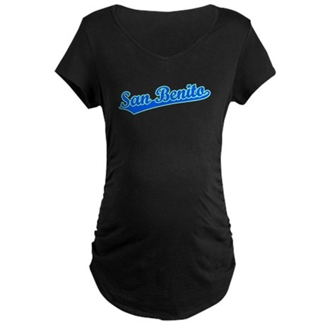 Retro San Benito (Blue) Maternity Dark T-Shirt