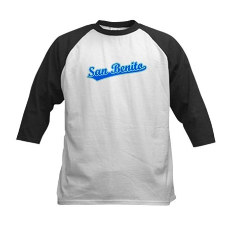 Retro San Benito (Blue) Kids Baseball Jersey