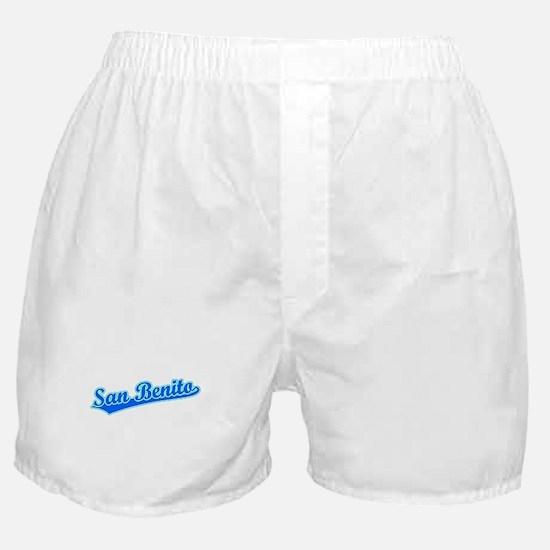 Retro San Benito (Blue) Boxer Shorts